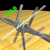 Yuan Da High Quality BWG12X13-BWG17X17 Electro / Hot Dipped Galvanized Barbed Wire ISO9001:2000