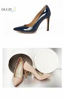 OLZP4 Alibaba shoes supplier latest design 24 colors multi light pink pure leather shoe pumps