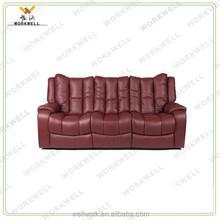 WorkWell 2015 new design recliner single sofa double sofa 3 seat recliner sofa set Kw-Fu59b