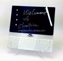 2015 new design glass memo board