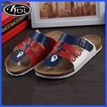 Venta al por mayor de aleta azul Flip flop sandalias Birkenstock zapatillas PU 2015