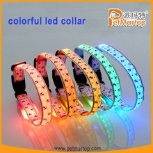 New and hot selling colorful led flashing pet collar factory price patterned led dog collar TZ-PET3200