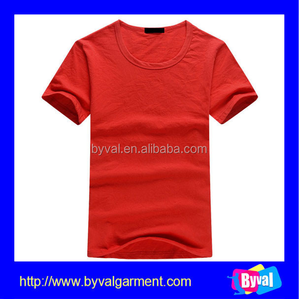 Wholesale plain dyed red t shirt cheap blank t shirts for Plain t shirt wholesale philippines