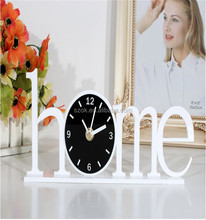 decorative on line shopping acrylic table clock for bed room