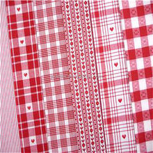 300T Polyester pongee fabric / Red white striped fabric/red and white striped fabric