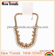 New arrival large pearl chunky necklace, fashion pearl necklace jewelry
