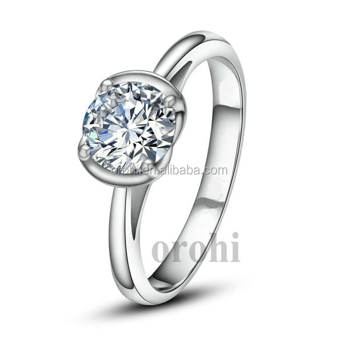 Trendy products sample wedding ring designs aaa zircon 925 for Sample of wedding rings