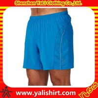 2015 new style comfortable polyester mesh plus size running slim fit men wholesale athletic shorts