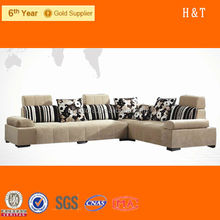 Fashion Design Sectional Fabric Sofa, Sectional Fabric Sofa with Headrest, Modern Luxury Sectional Fabric Sofa F216