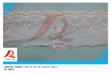 Fashion Cotton Embroidery Lace , Lace Trimming for children's garments