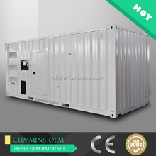 Containerized power generator 1mw ,1.25mva generators diesel silent prices
