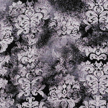 3D black flowers printed silk soft woven chiffon fabric for dress