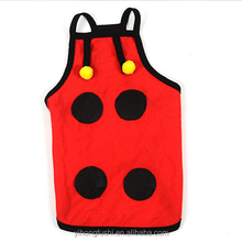 Pet clothes for rabbits / mesh dog vest / red small dog t shirts