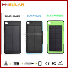 Low discount 8000mah hook solar power bank charger for travel