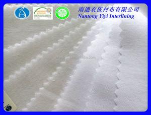 Blanco como la nieve de alta calidad Cepillado camisa interlínea