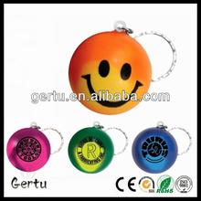 promotional pu foam color change stress ball keyring