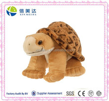 Big size brown stuffed sea turtle toy