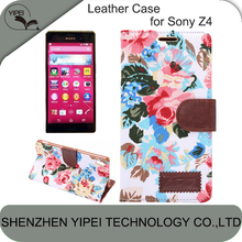 2015 Hot Selling Phone Bag for Sony Z4 Back Cover with Wallet Card Holder High Quality Lower Price