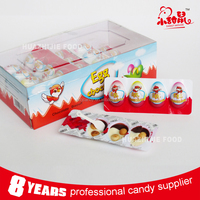 Wholesale candy 4 in 1 sweet chocolate egg with biscuit