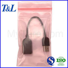 Customized with your special requirements good and cheap Pink Anti Static Poly Zipper Bag