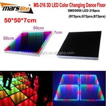 3D Time Tunnel LED Dance Flooring 50x50x7cm