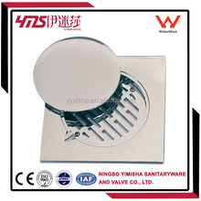 150*150 Chrome plated abs floor drain with clean out, floor drain strainer