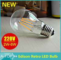 230V AC 360 degree 4W 400Lm Ra gt;80 Glass CE RoHS E27 Candle LED Filament Bulb