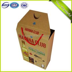 2015 Wholesale cheap Fashion wine bag / wine Kraft Paper Bag / full color printing brown kraft paper wine bag