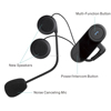 Hands free bluetooth headset for motorcyclist
