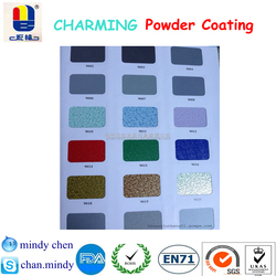 chemical stable toxic free art texture shiny effect powder coating for metal