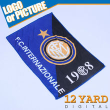 Chinese Promotion Italy soccer club fashion full print personalized sports microfiber towel for car cleaning
