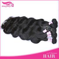 body wavy human hair drawstring ponytail