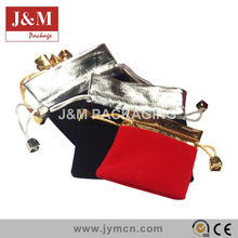 customized velvet jewelry drawstring pouch for packaging cheap bags on sale