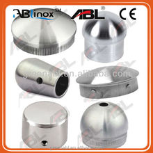 Newest 304 stainless steel end caps inox 304 Pipe Fittings stainless steel bar end cap