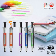 Syringe Shape Injection touch Ball Pen with highlighter