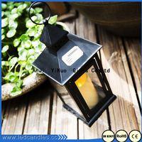 Wrought Iron Pillar Candle Holder/Metal Lantern