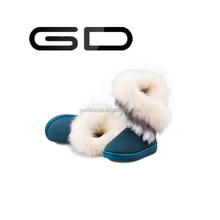 GD Pure sheep skin High winter shoes sheep fur boots women's snow boots bind style warm snow boots wholesale