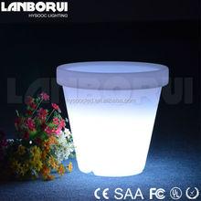 led flower pot/plastic flower pot/led vertical garden