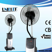 Hot in india 230V water mist fan with mosqito spray fan misting nozzle box fan