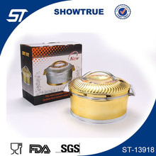 Golden plated most deluxe ABS stainless steel thermal casserole