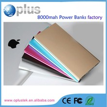 New coming backup battery power banks 8000mah for iphone 5/6 and android phones