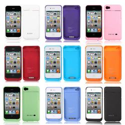 Backup External 1900mAh Battery Charger Case Cover Power Bank for iphone 4 4G 4S Free Shipping #L0192482