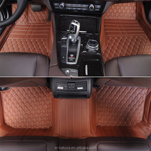 High quality 3d leather carpet car mat for Ford sharp circle