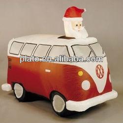 Inflatable Santa in Retro VW Camper Van