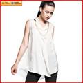 mulheres sem mangas blusa branca preço de fábrica