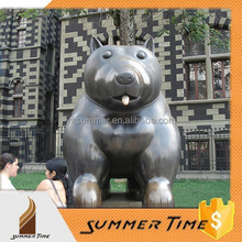 Bronze art fat animal sculpture for decoration