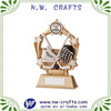 Unique gold ice hockey trophy sport award resin crafts