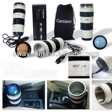 High capacity chargeable ABS Lens mug for car