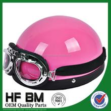 Bright Color Scooter Half Face Helmet for Sale, Pink Helmets