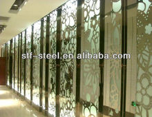 stainless steel decorative flower curtain wall art screen, room divider partition panel colorful